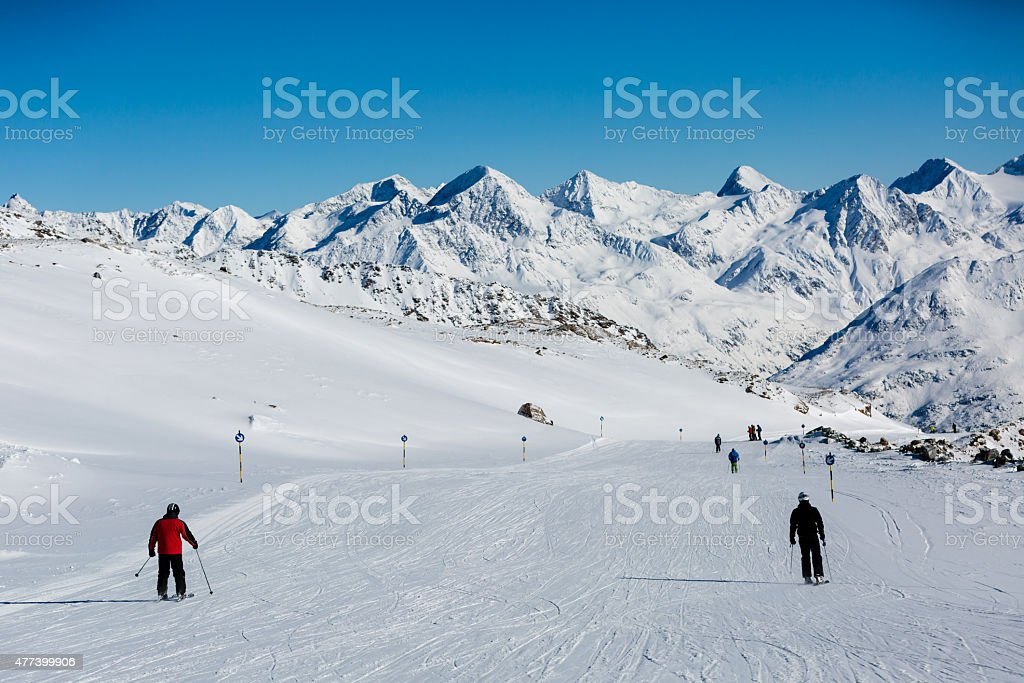 Easy ski slope stock photo