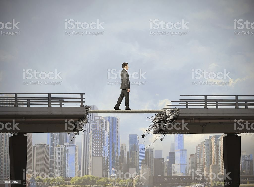 Easy solution for the problem stock photo