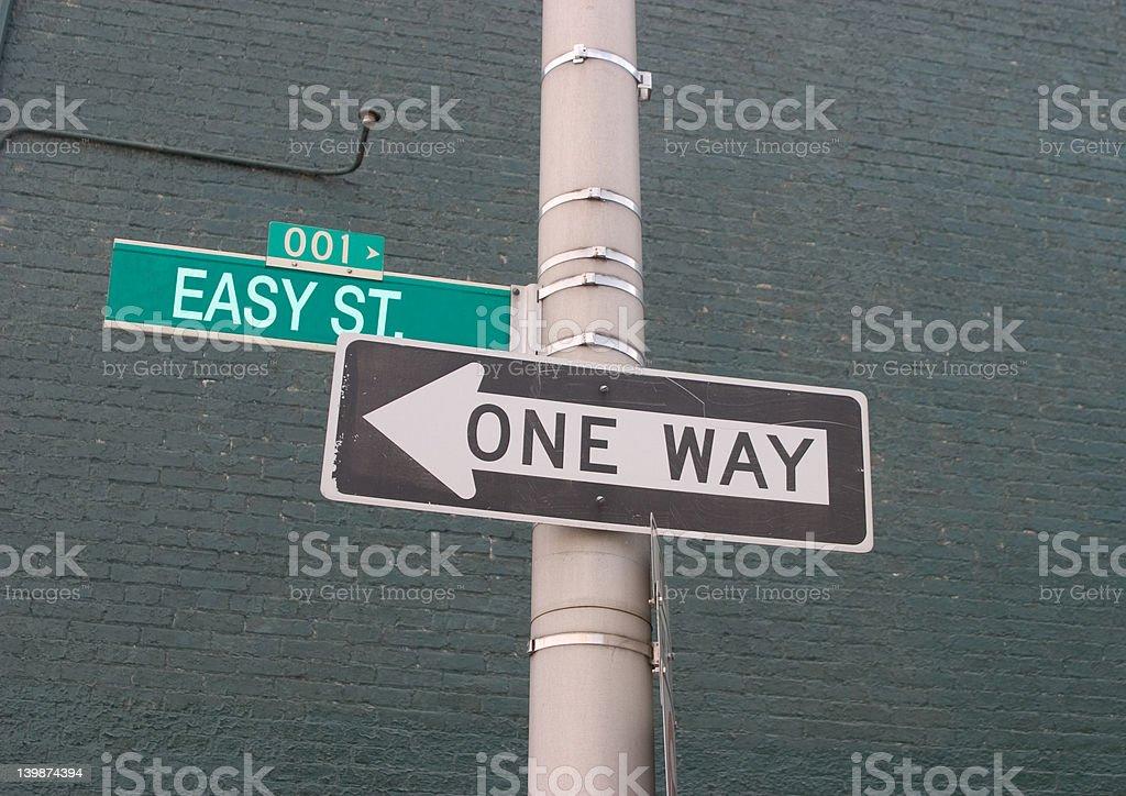 Easy street stock photo