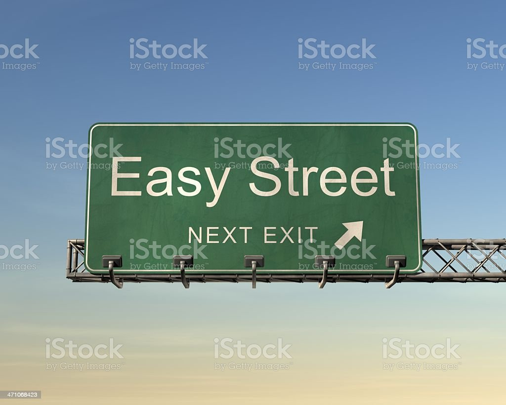 Easy Street Road Sign stock photo