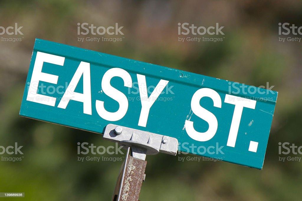 Easy Street Sign stock photo