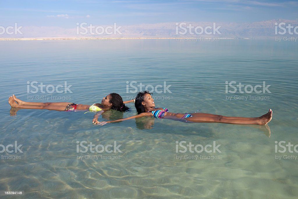 Easy swimming in high salinity water. royalty-free stock photo