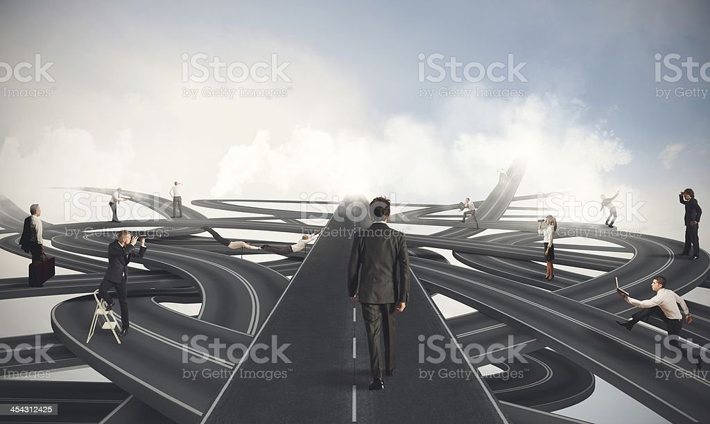 Easy way of a businessman royalty-free stock photo