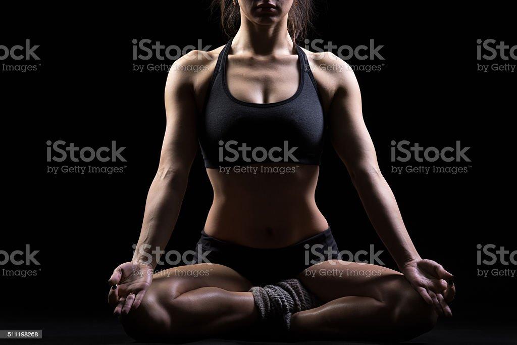Easy Yoga Pose stock photo