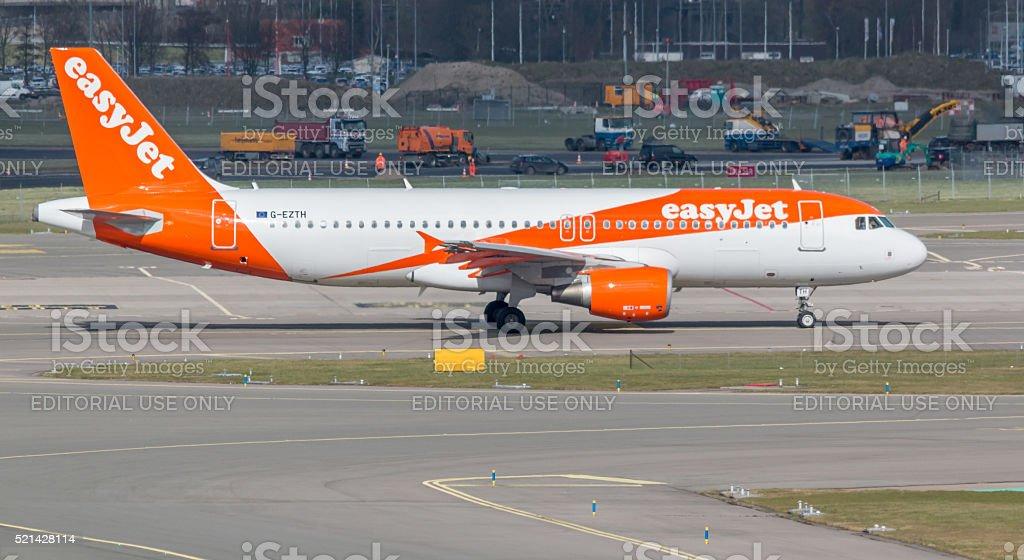 easyJet Airbus A318 stock photo