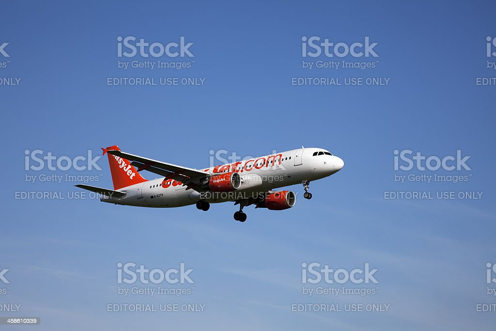 easyJet Airbus A320 royalty-free stock photo
