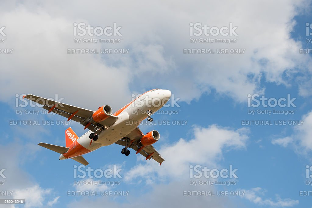 Easyjet airlines plane stock photo