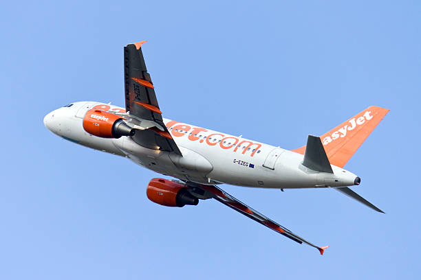 Easyjet airlines taking off stock photo