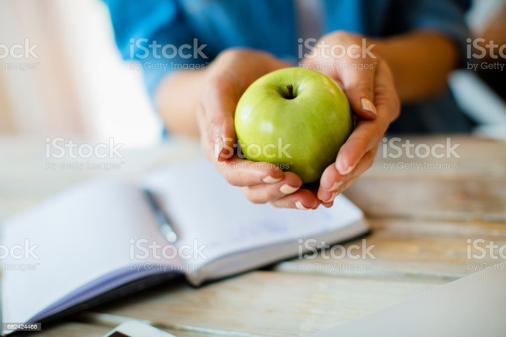 Eat an apple a day royalty-free stock photo