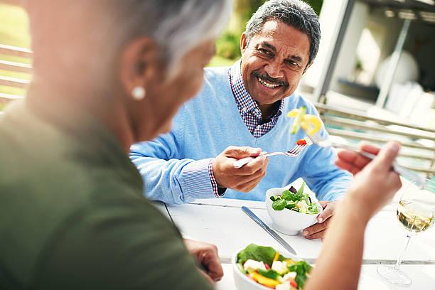 Eat good, feel good stock photo