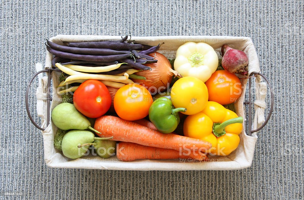 Eat Healthy Vegetables and Fruits stock photo