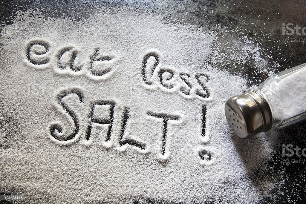 Eat Less Salt stock photo