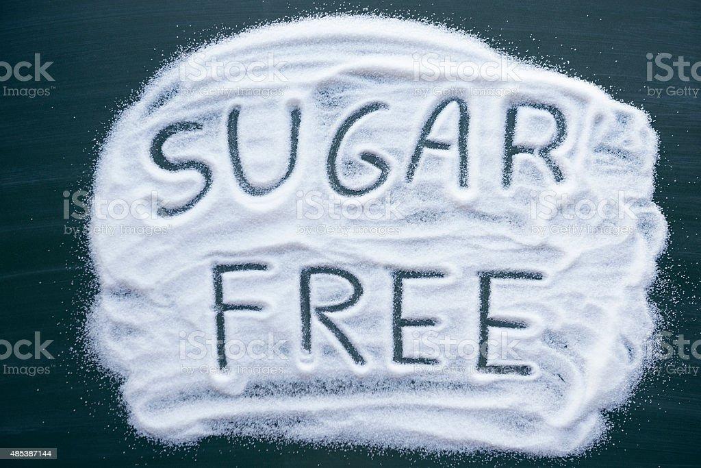 eat less sugar stock photo