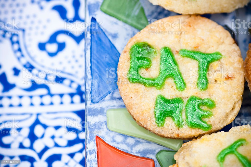 Eat me biscuit royalty-free stock photo