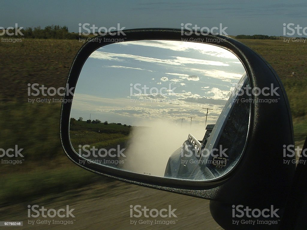 Eat My Dust royalty-free stock photo