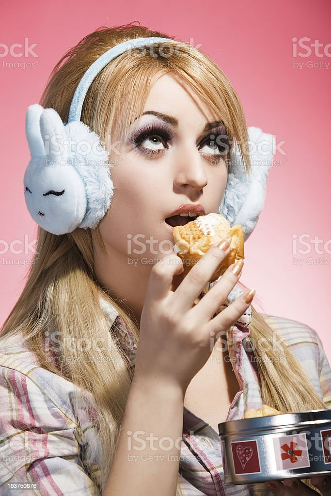 Eat or not eat? stock photo
