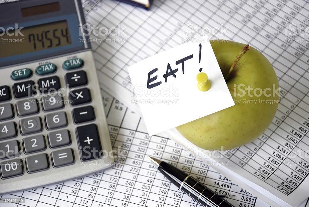 Eat reminder royalty-free stock photo