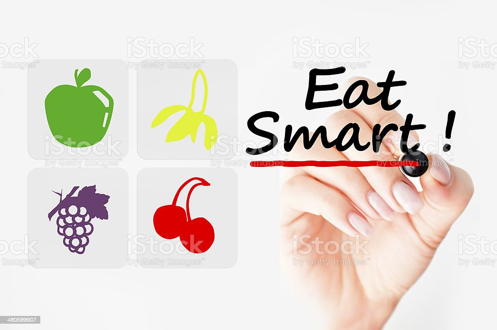 Eat smart stock photo
