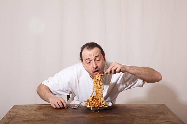Essen Sie spaghetti – Foto