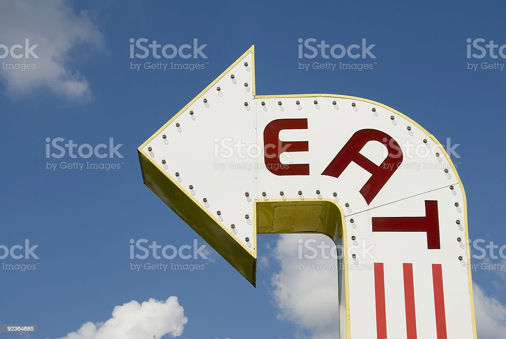 Eat This Way stock photo