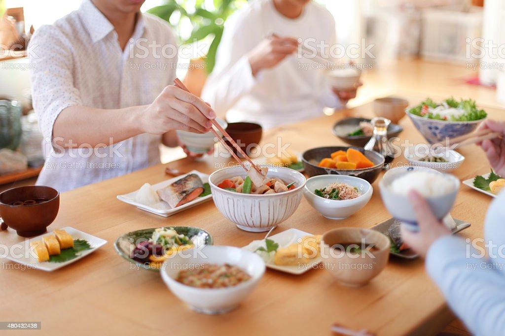 箸のお食事 ストックフォト