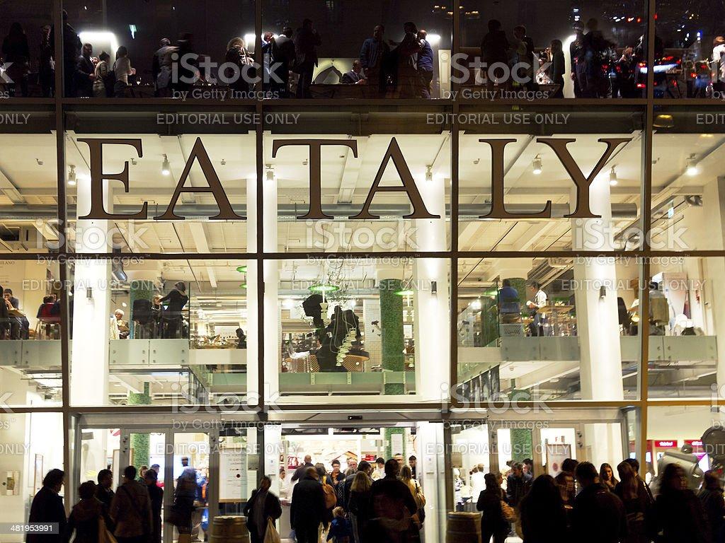 Eataly Milano stock photo