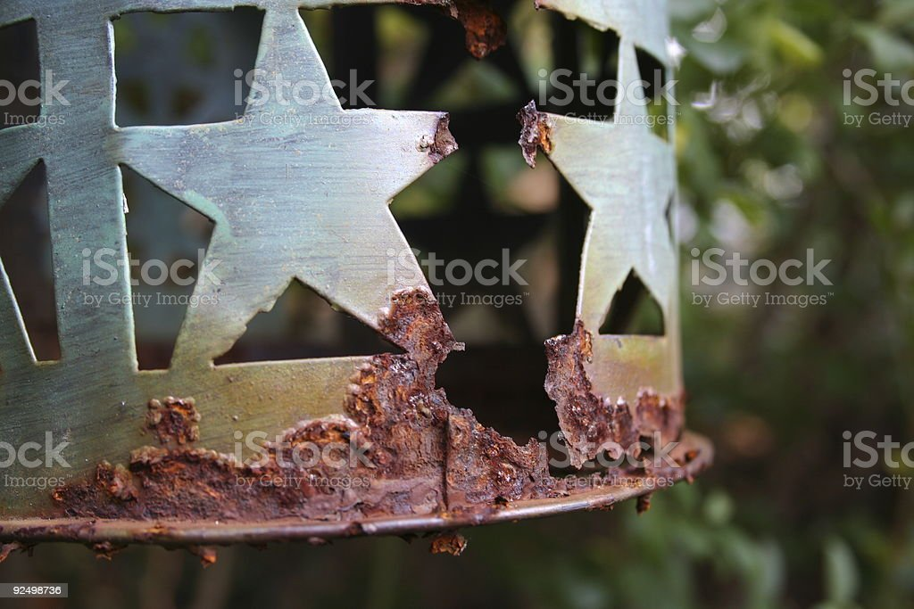 Eaten by rust royalty-free stock photo