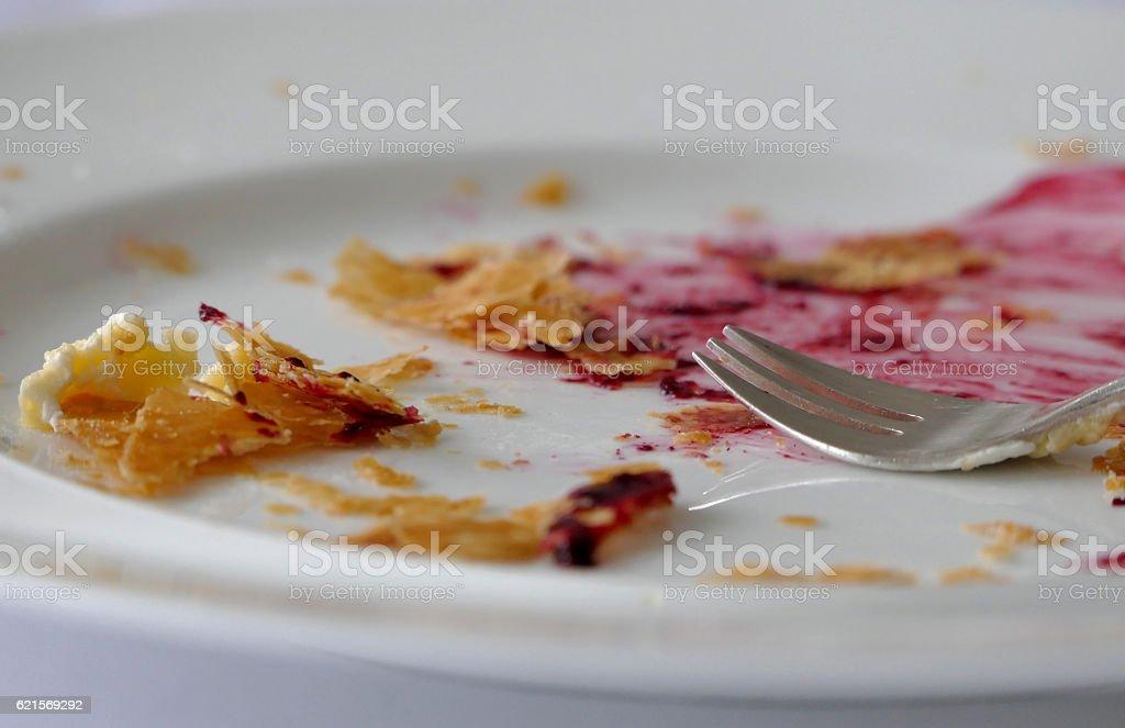 Eaten cake photo libre de droits