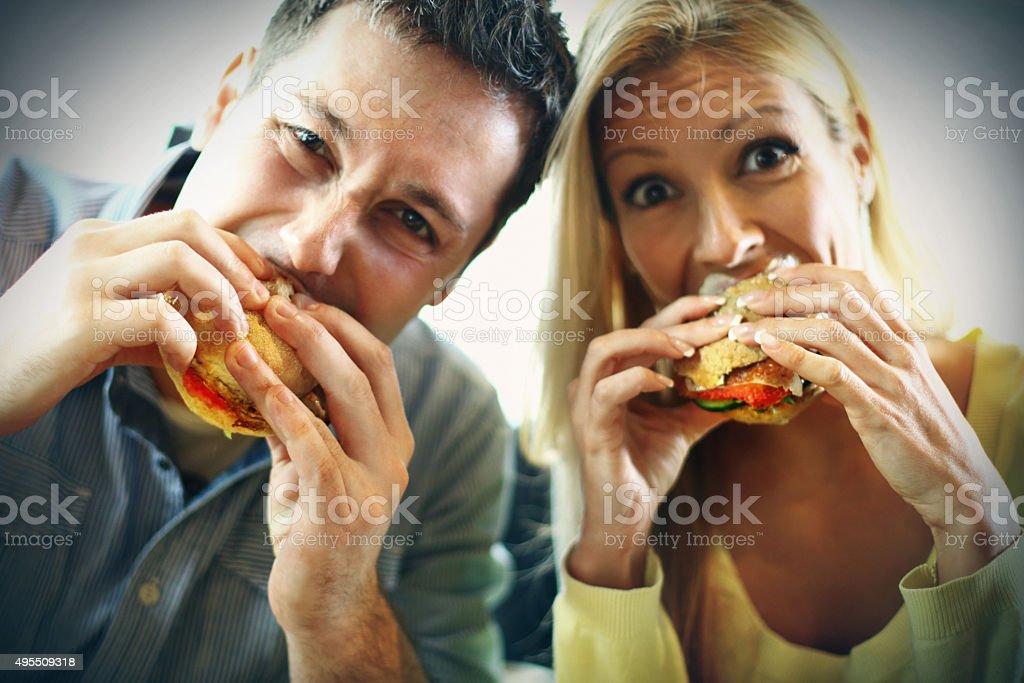 Eaters. stock photo
