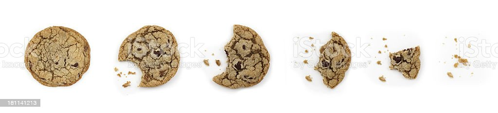 Eating a Cookie stock photo