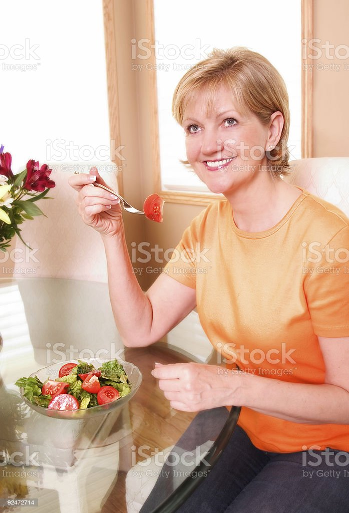 Eating a Salad royalty-free stock photo