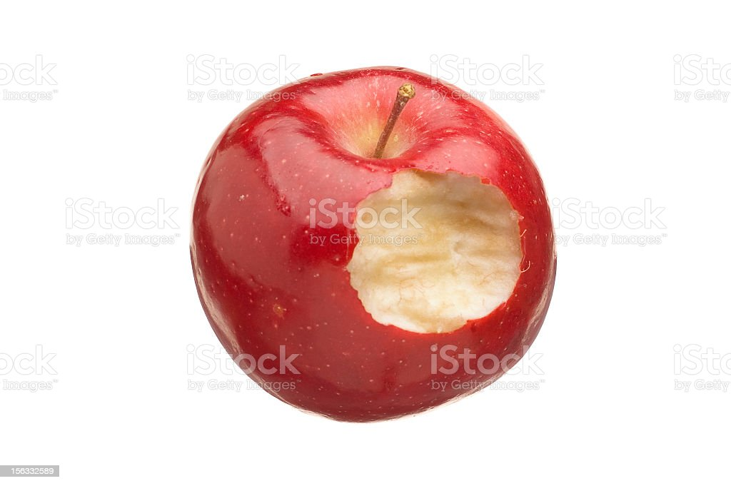 Eating an Apple royalty-free stock photo