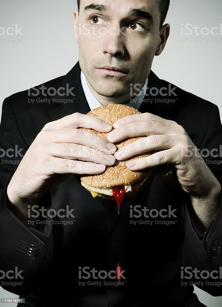 Eating at the office royalty-free stock photo