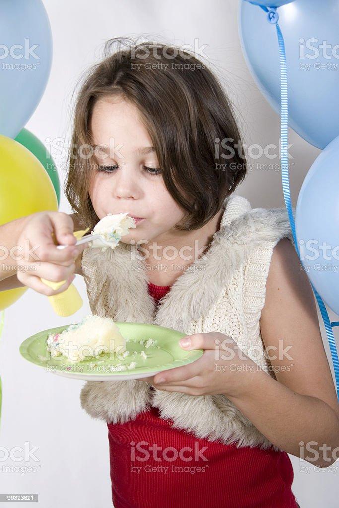 Eating Birthday Cake royalty-free stock photo