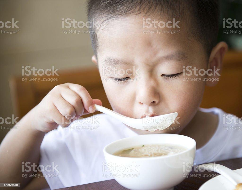 eating breakfast royalty-free stock photo
