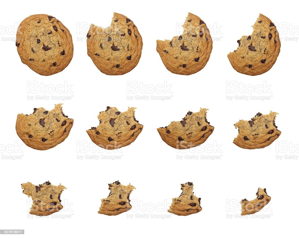 Eating cookie stock photo