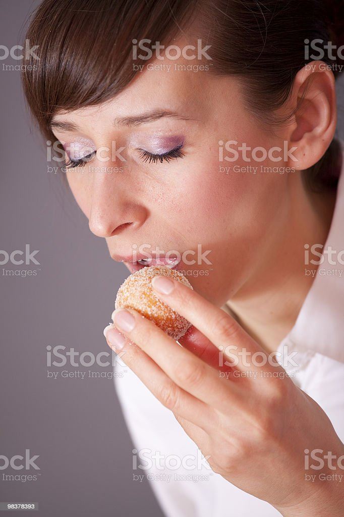 eating dessert royalty-free stock photo
