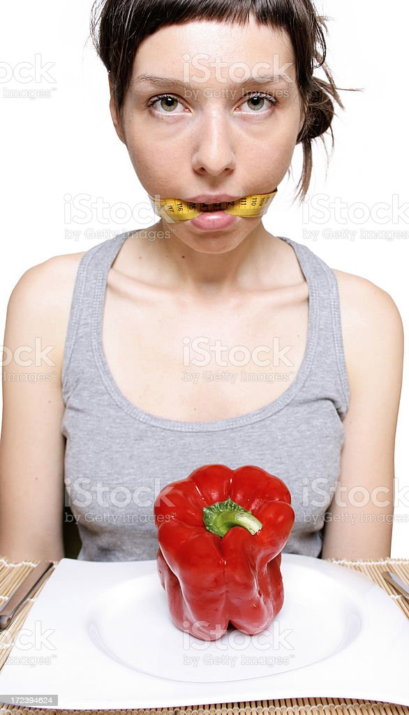 Eating disorders royalty-free stock photo