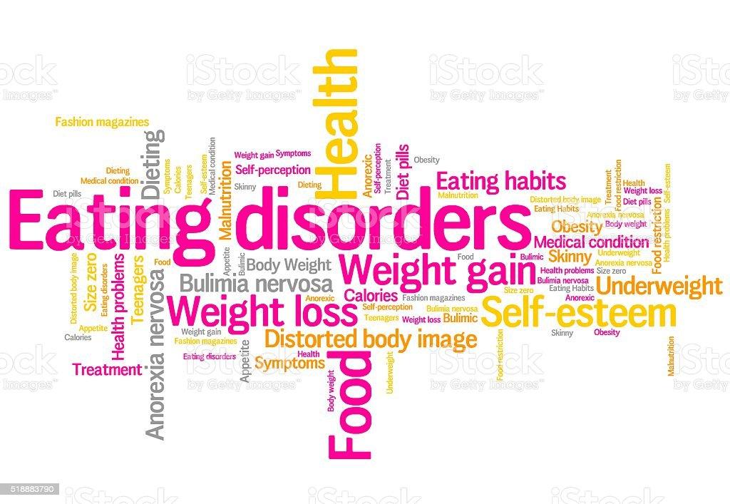 Eating disorders stock photo