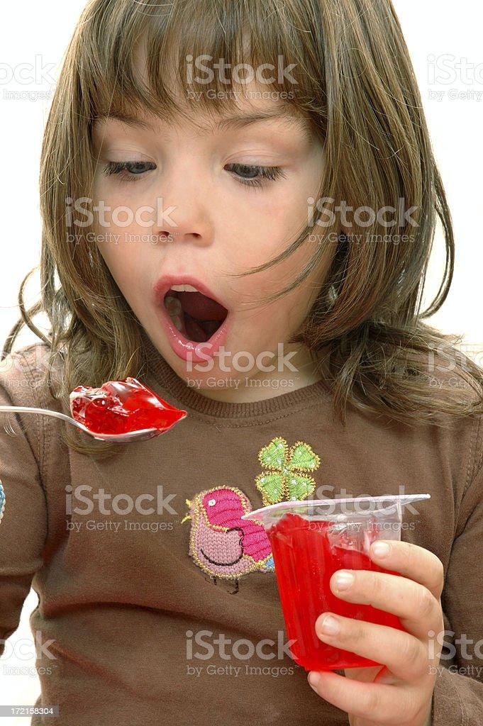 Eating gelatine royalty-free stock photo