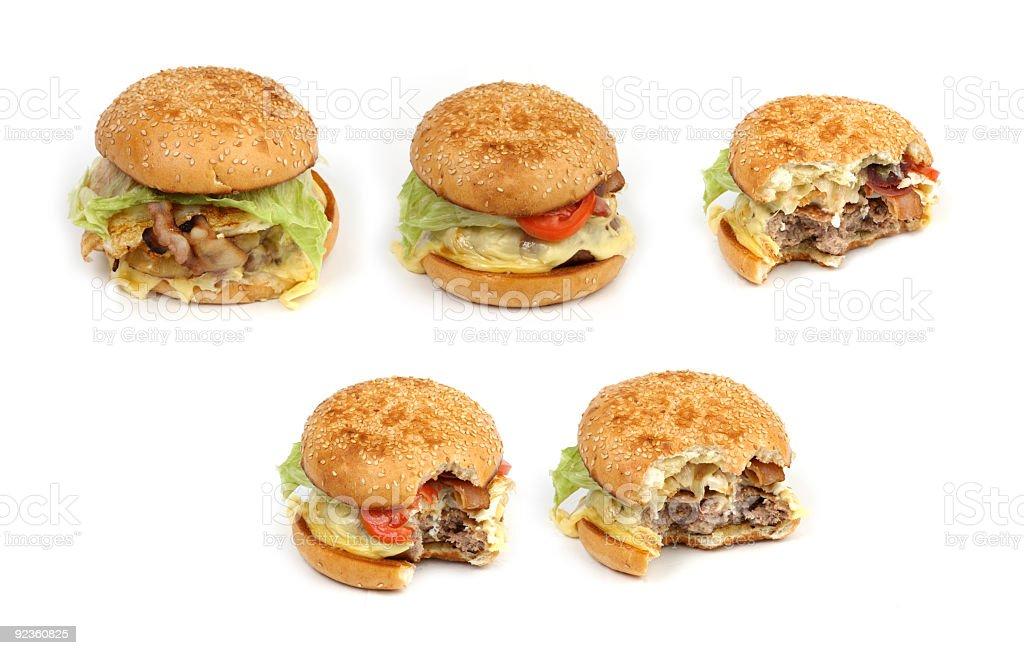 eating hamburger series stock photo