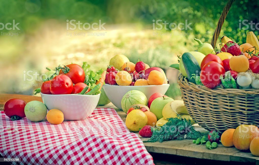 Eating healthy food - healthy diet stock photo