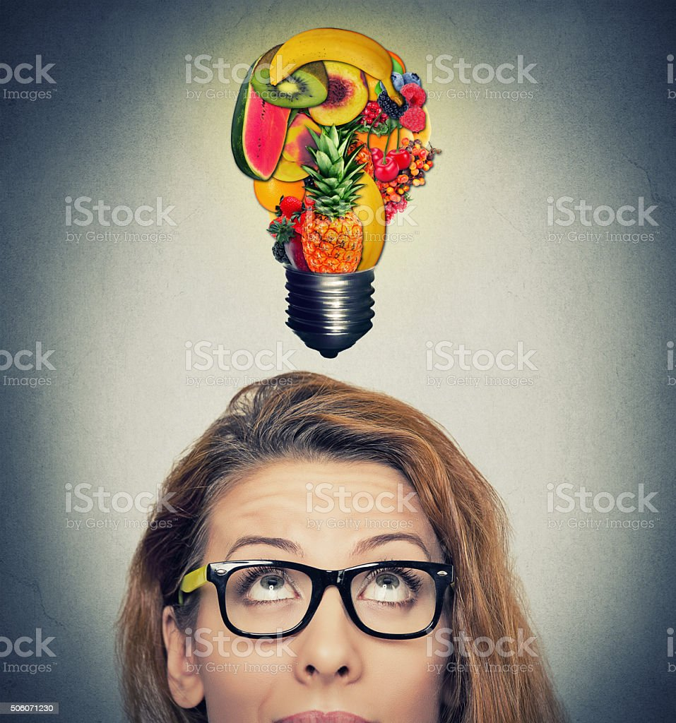 Eating healthy idea and diet tips concept stock photo