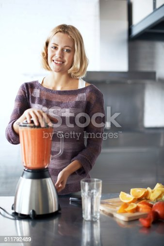 512979895istockphoto Eating healthy makes her happy 511792489