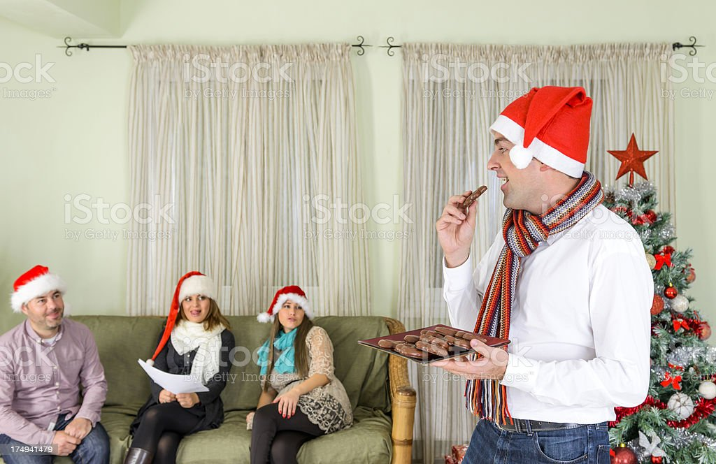 eating sweets royalty-free stock photo