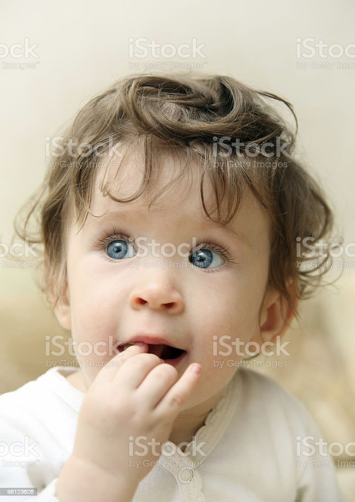 eating touching baby portrait royalty-free stock photo
