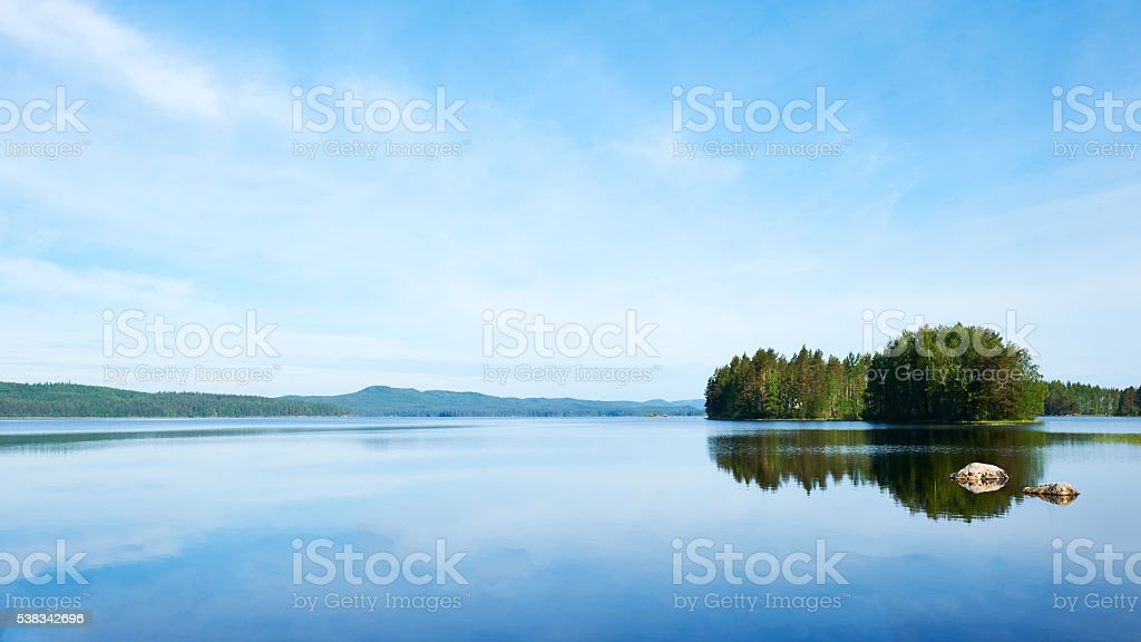 eautiful Finnish landscape stock photo