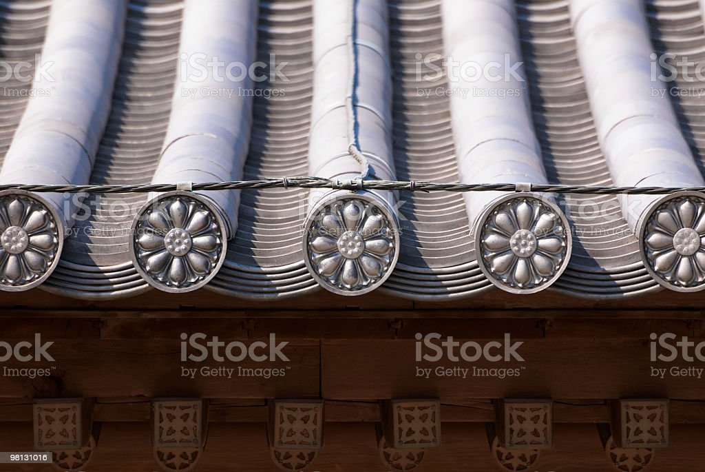 Eaves-tile royalty-free stock photo