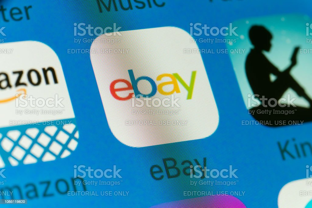 Ebay Kindle Amazonand Other Cellphone Apps On Iphone Screen Stock Photo Download Image Now Istock