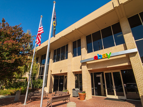 Ebay Outdoor Logo At Company Headquarters In Silicone Valley Stock Photo Download Image Now Istock